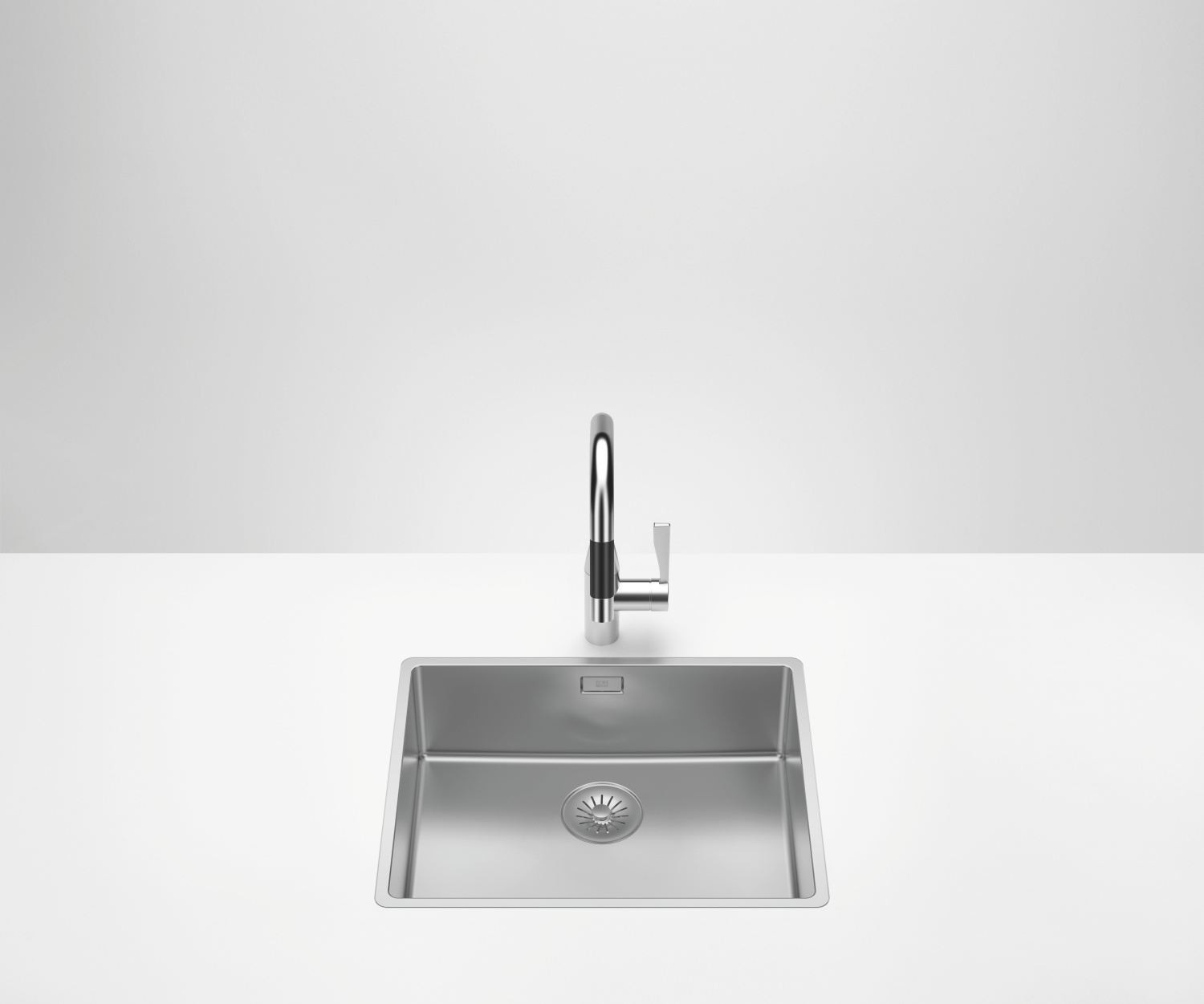 Single sink - polished high-grade steel - 38 501 003-85