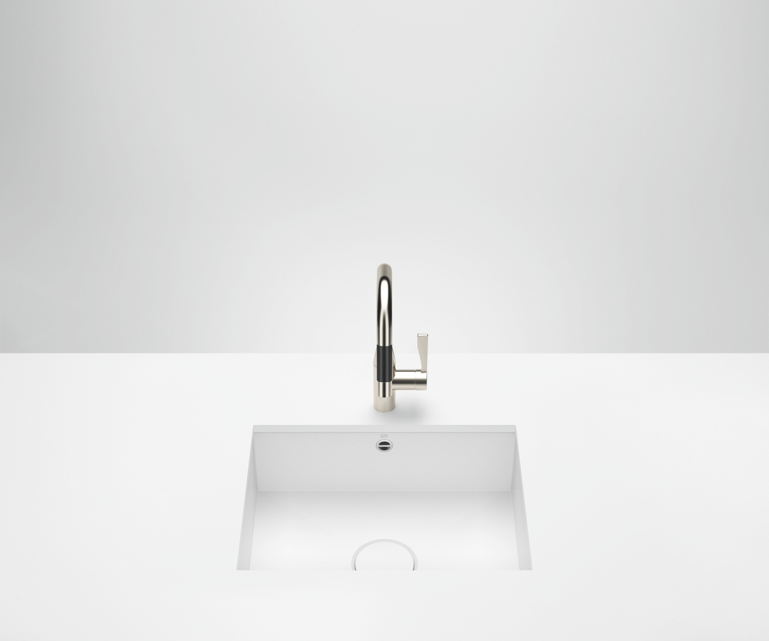 Single sink - matt white - 38 550 002-62