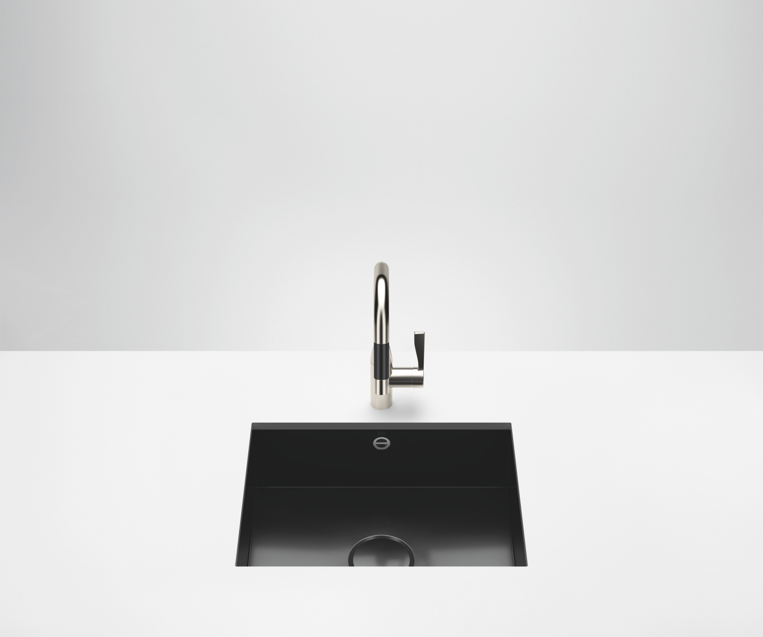 Single bowl sink - glossy black