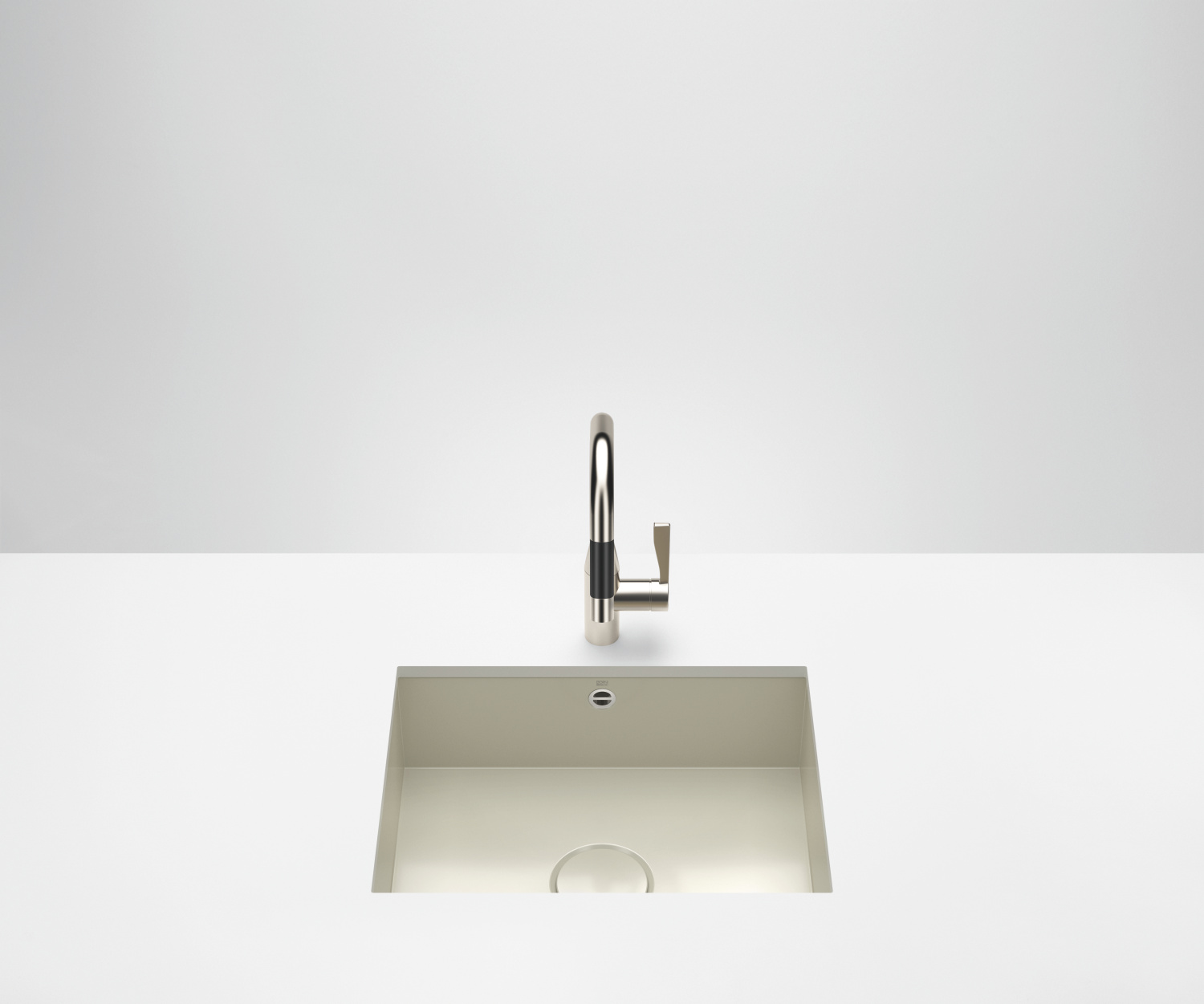 Single sink - high-gloss sand - 38 550 002-78