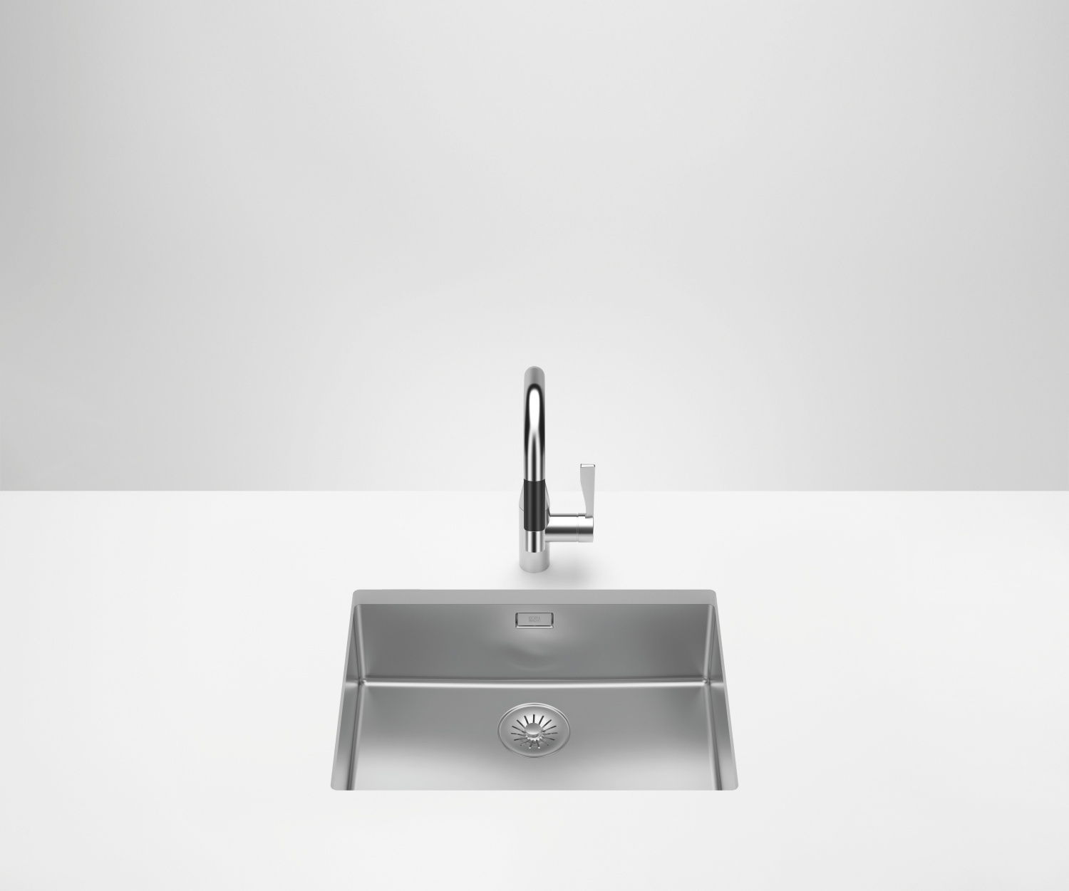 Single sink - polished high-grade steel - 38 550 003-85