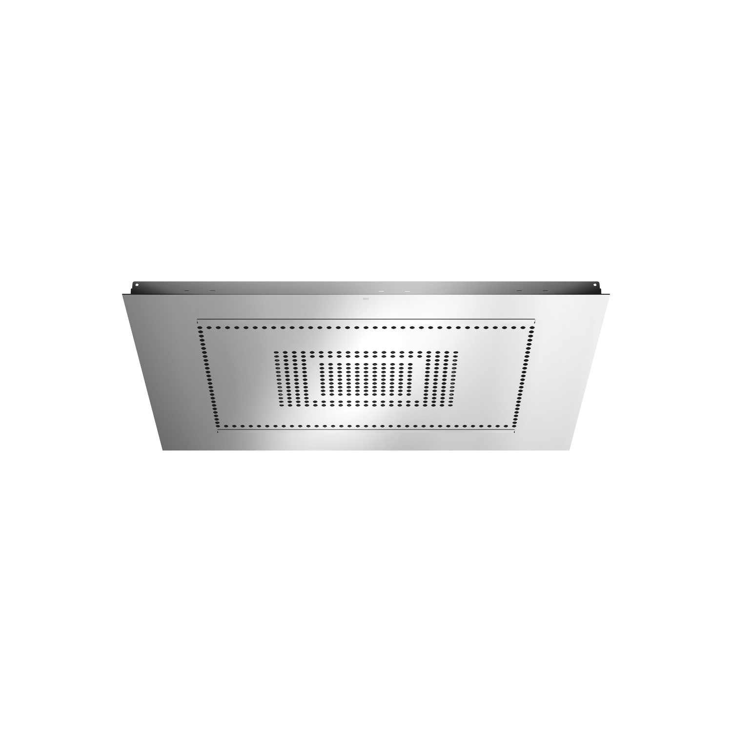 RAIN SKY M Rain panel for flush ceiling installation  manual control - polished stainless steel