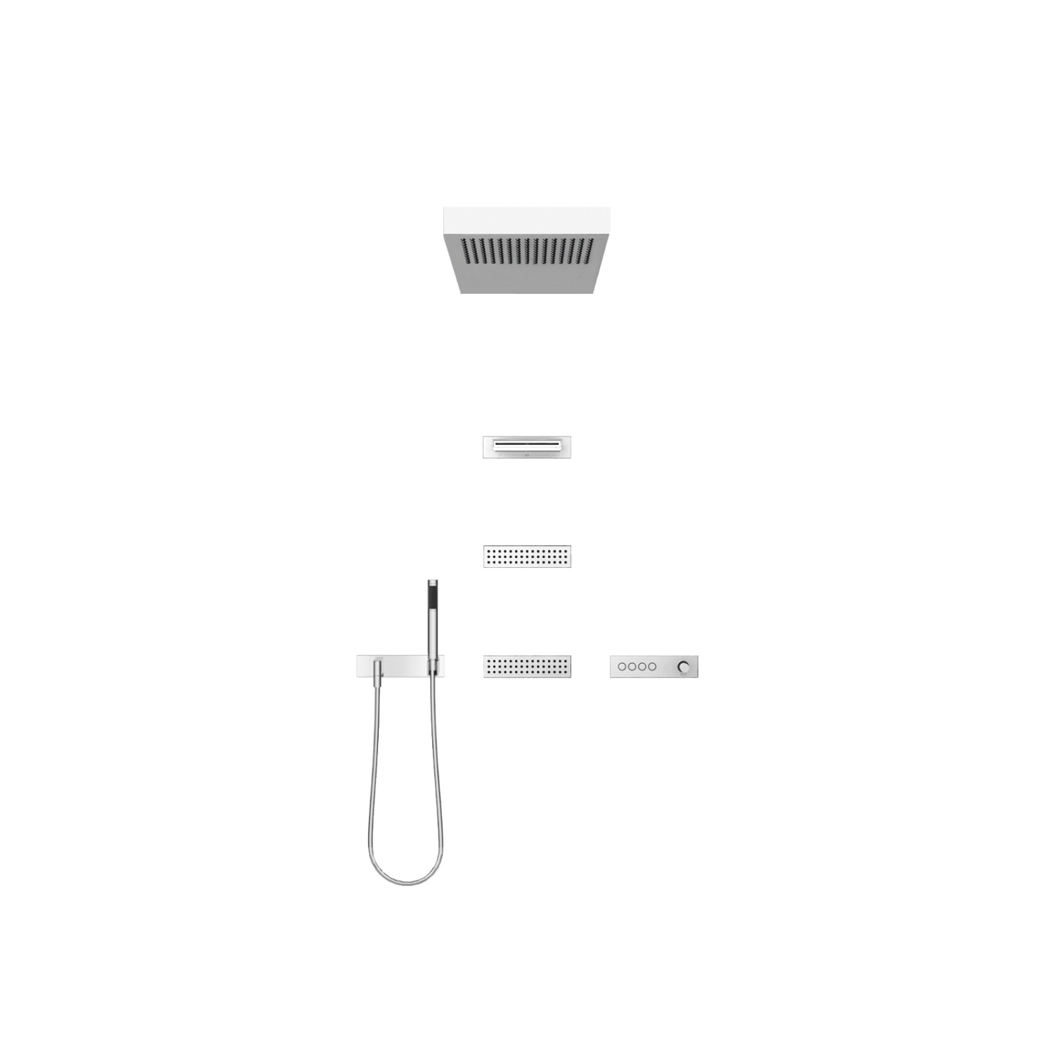 VERTICAL SHOWERᴬᵀᵀ Massage shower - Polished stainless steel / polished chrome