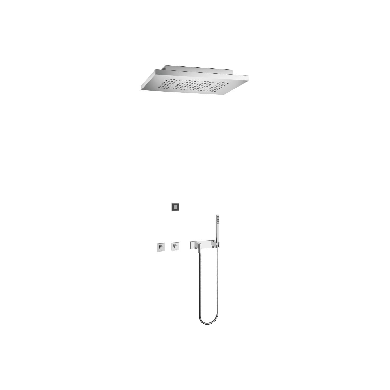 eUNIT SHOWERᴬᵀᵀ Smart Rain Shower - Polished stainless steel / chrome - 41 382 979-83