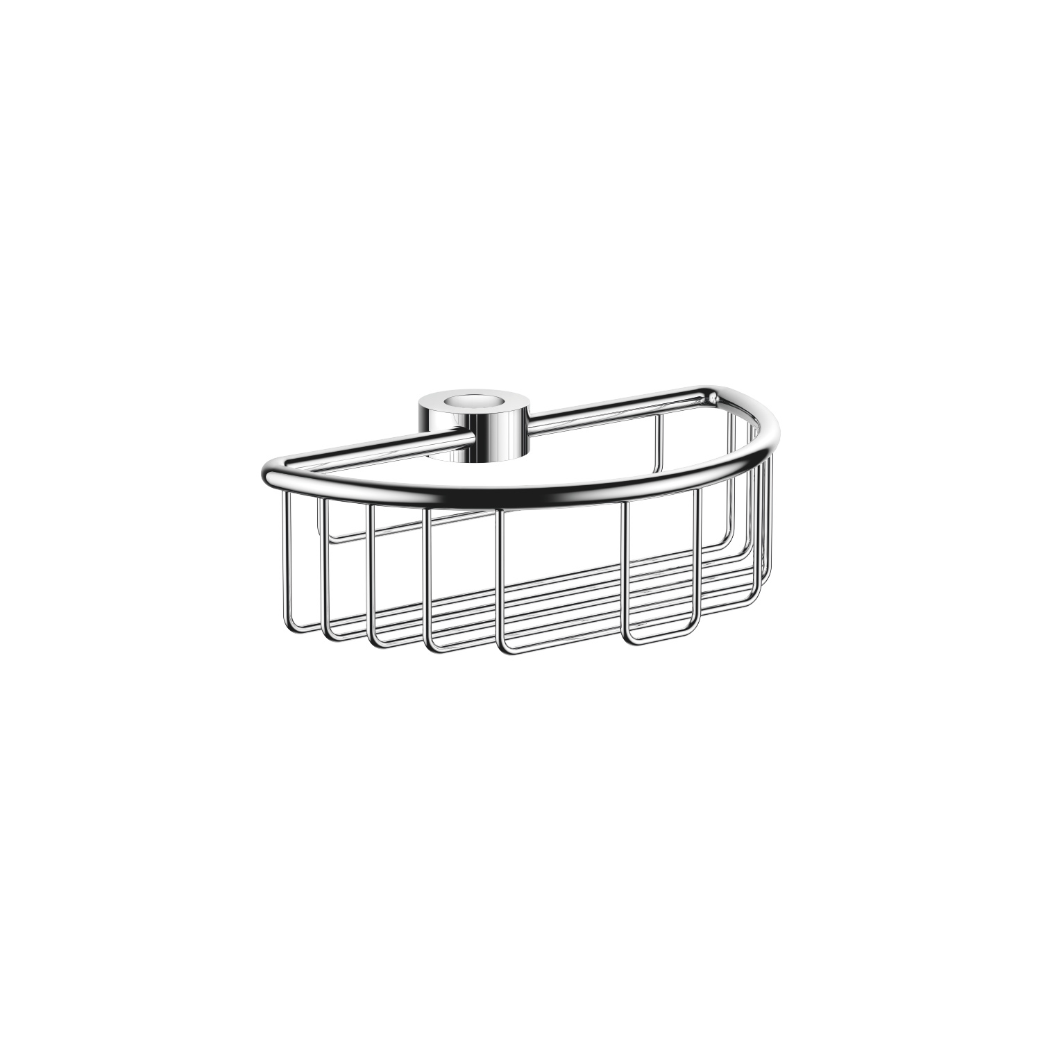 Shower basket for subsequent mounting on riser - polished chrome