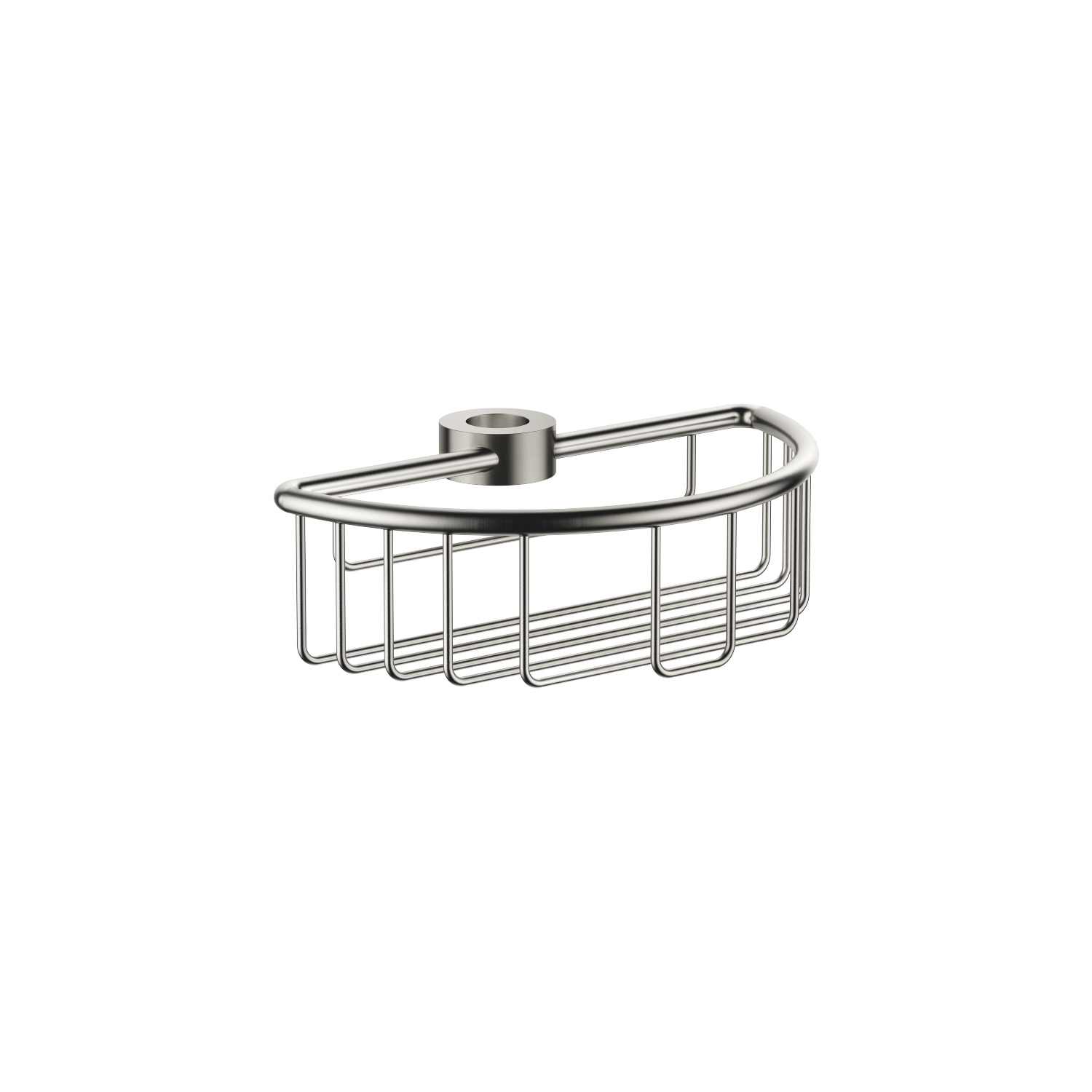 Shower basket for subsequent mounting on riser - platinum matt