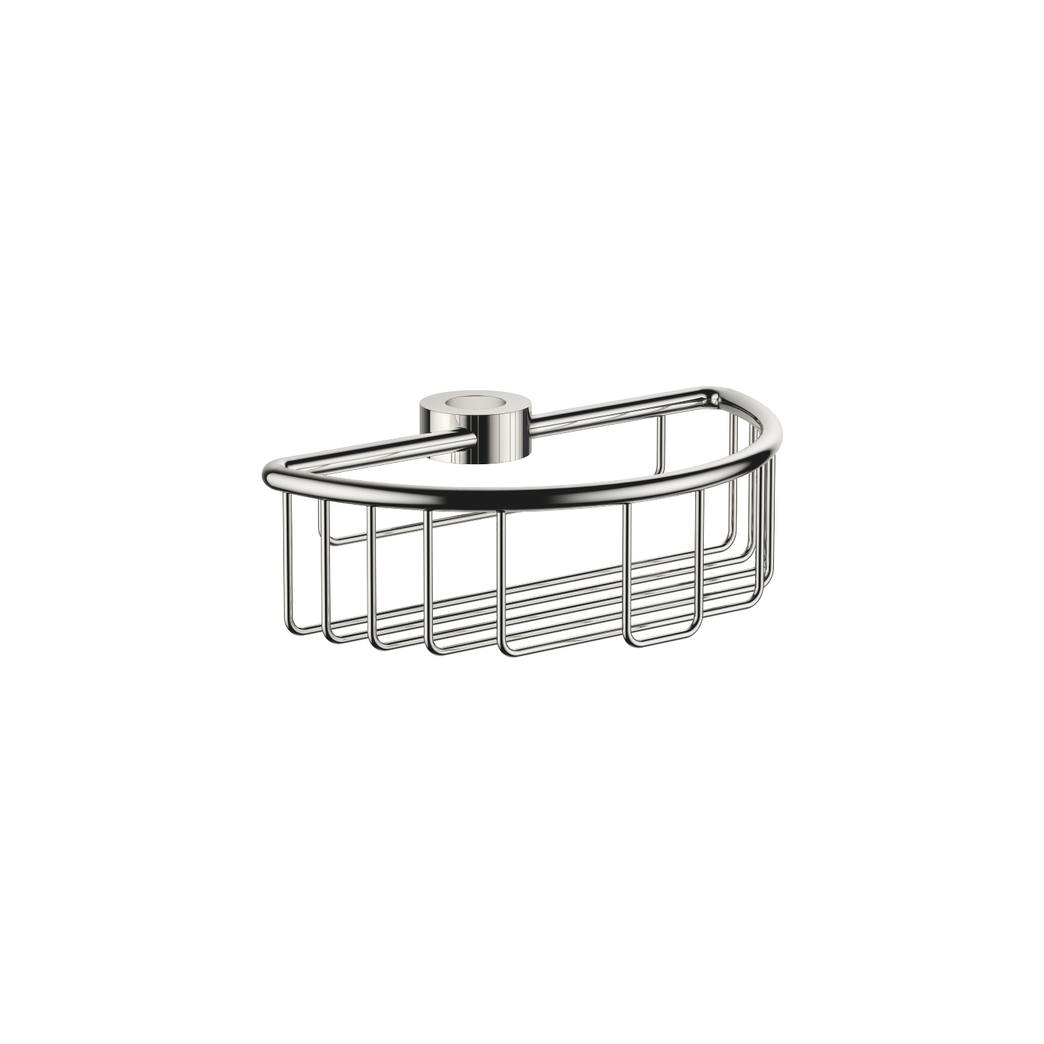 Shower basket for subsequent mounting on riser - platinum
