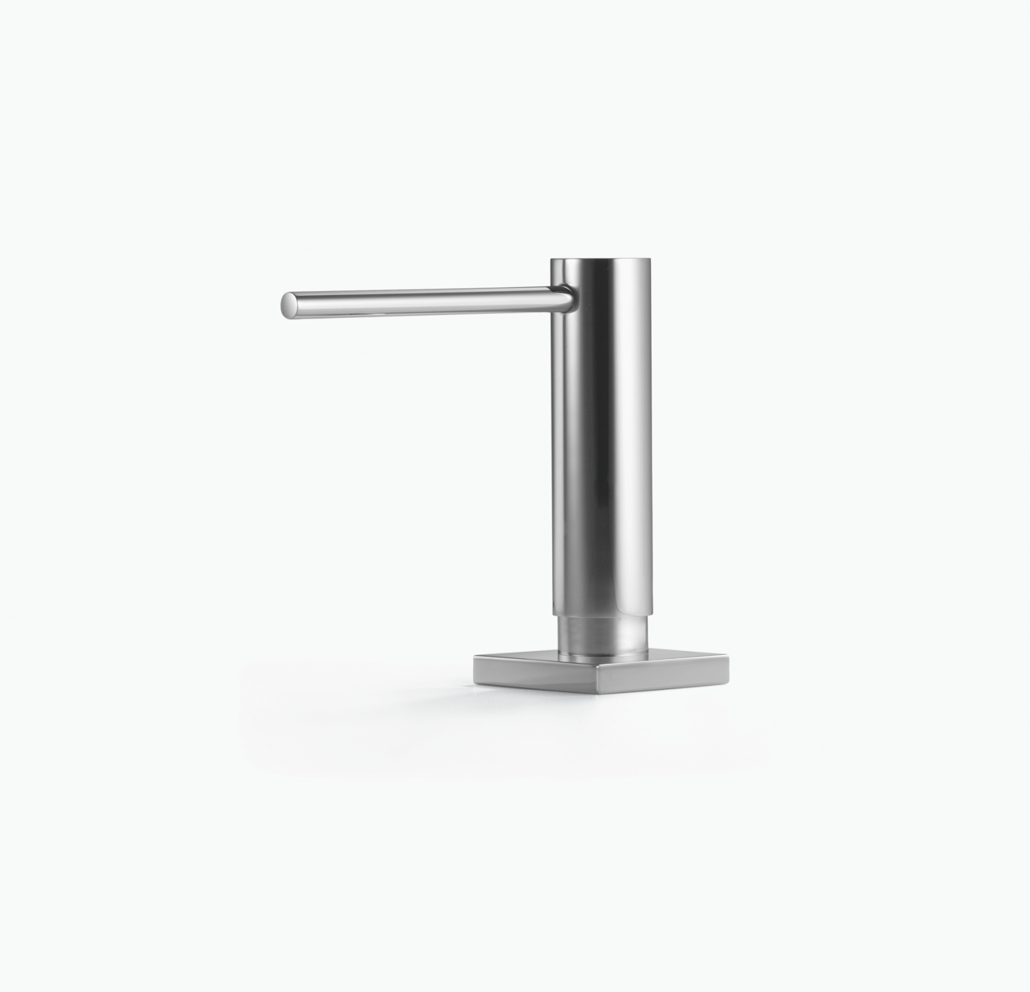 Dispenser with rosette - polished chrome