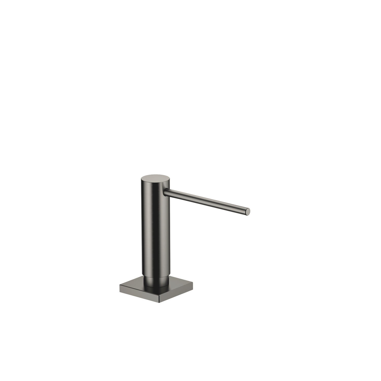 Dispenser with rosette - Dark Platinum matt - 82 439 970-99
