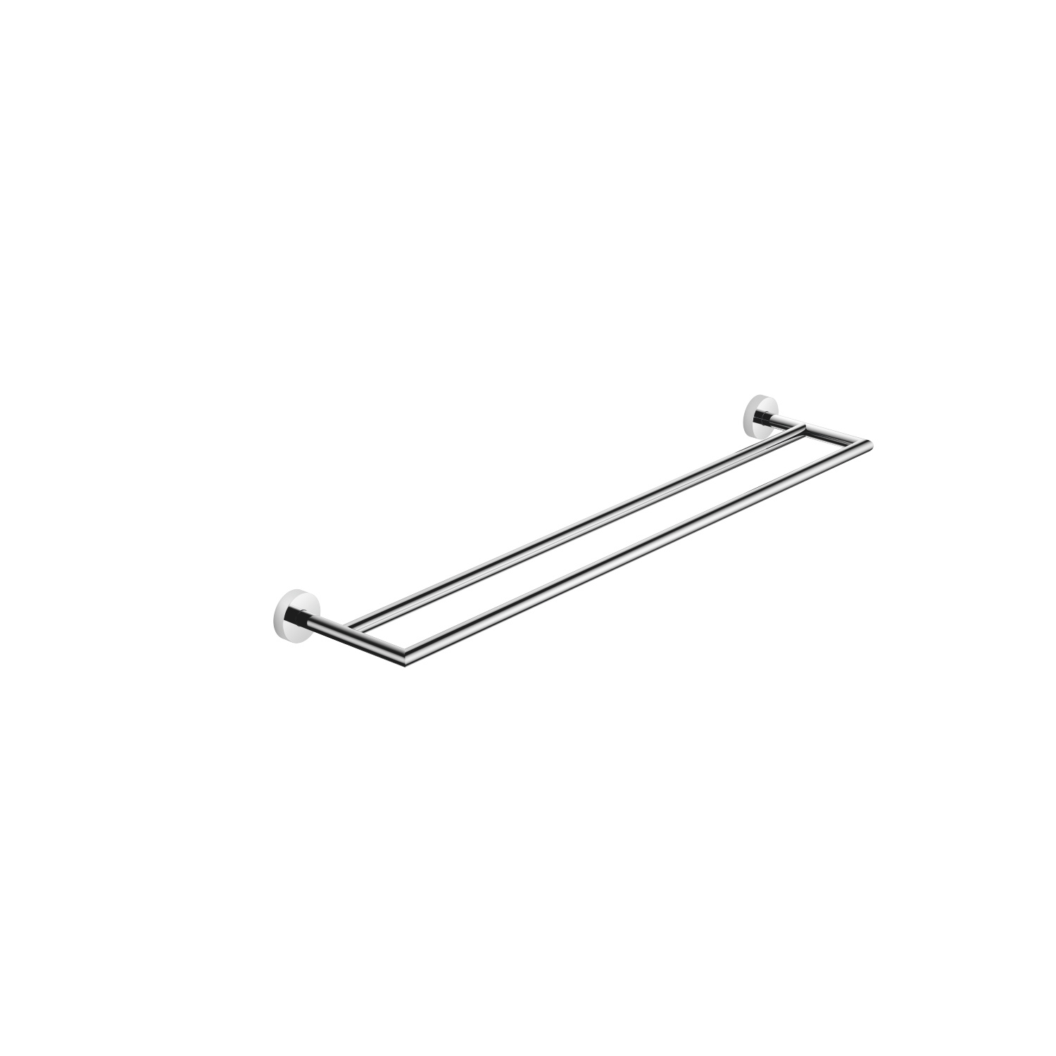 Towel bar in two parts - polished chrome