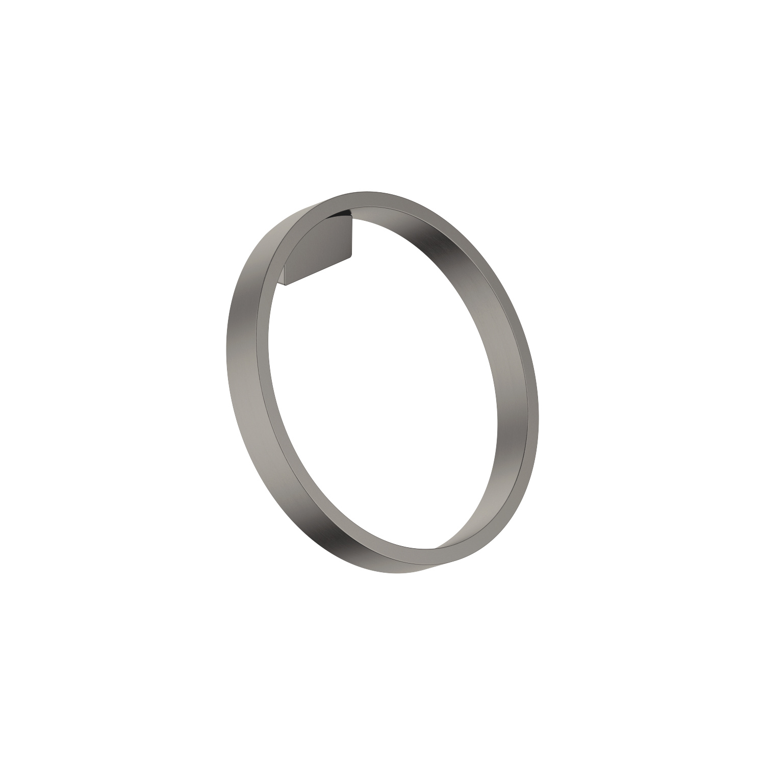 Towel ring round - Dark Platinum matt