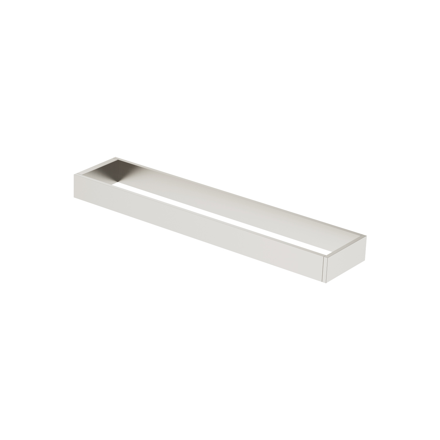 Towel bar in two parts non-swivel - platinum matt