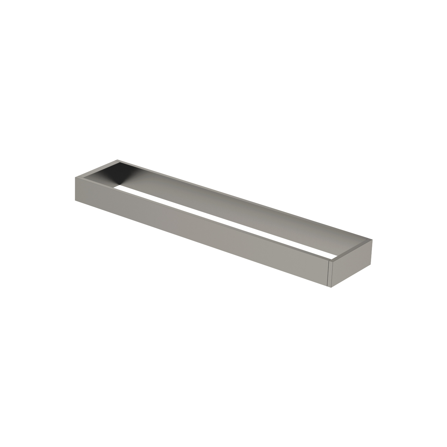 Towel bar in two parts non-swivel - Dark Platinum matt