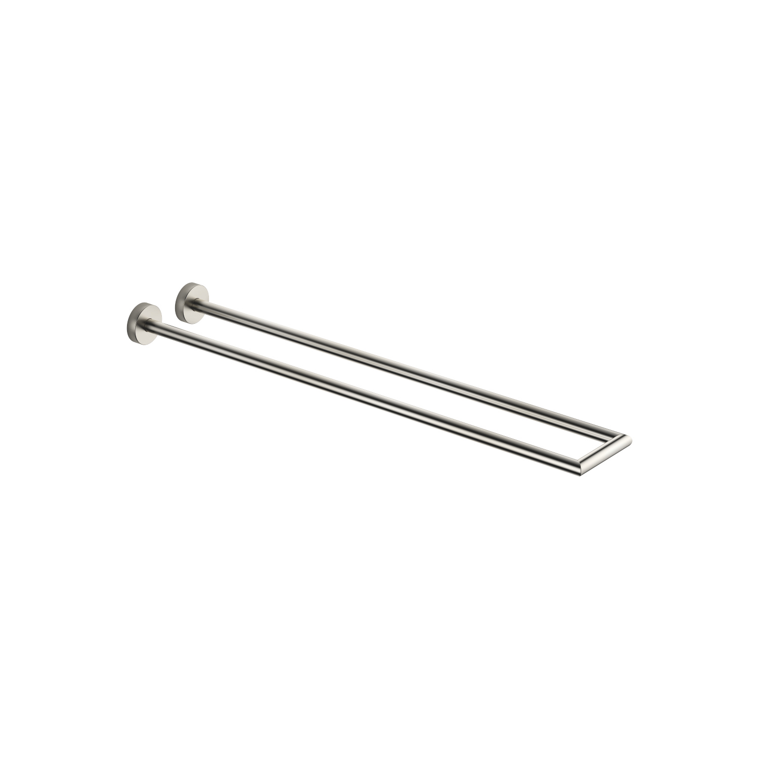 Towel bar two-piece fixed - platinum matte