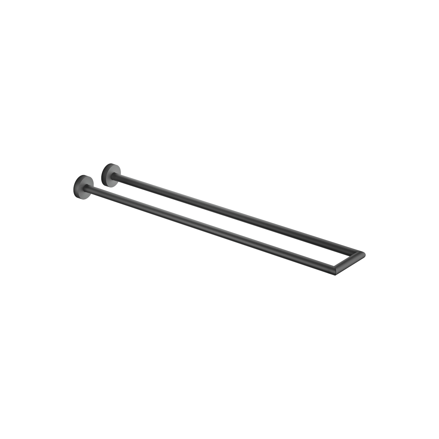 Towel bar in two parts non-swivel - matt black - 83 210 979-33