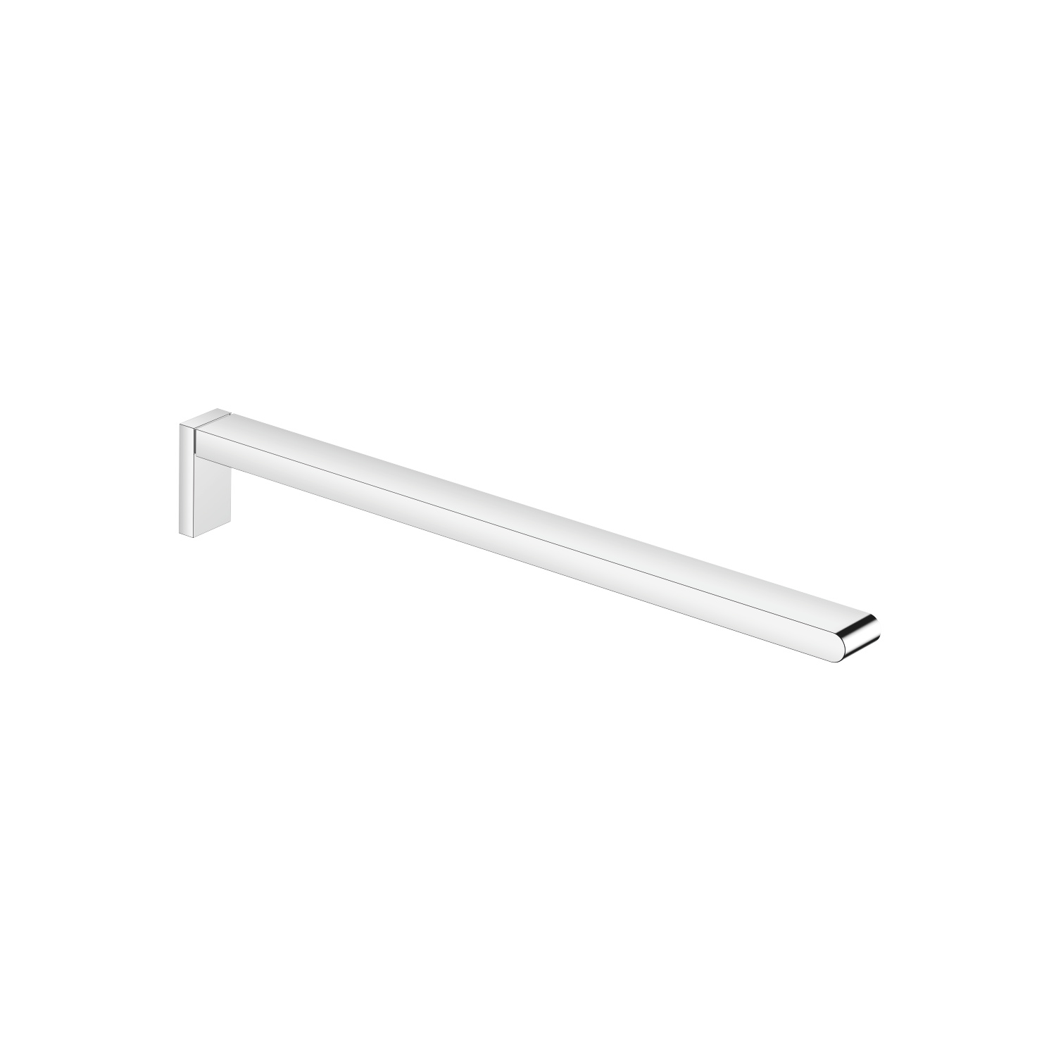 Towel bar 1-piece non-swivel - polished chrome