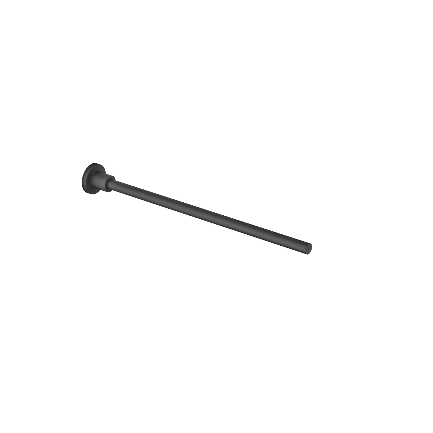 Towel bar single-arm fixed - black matte
