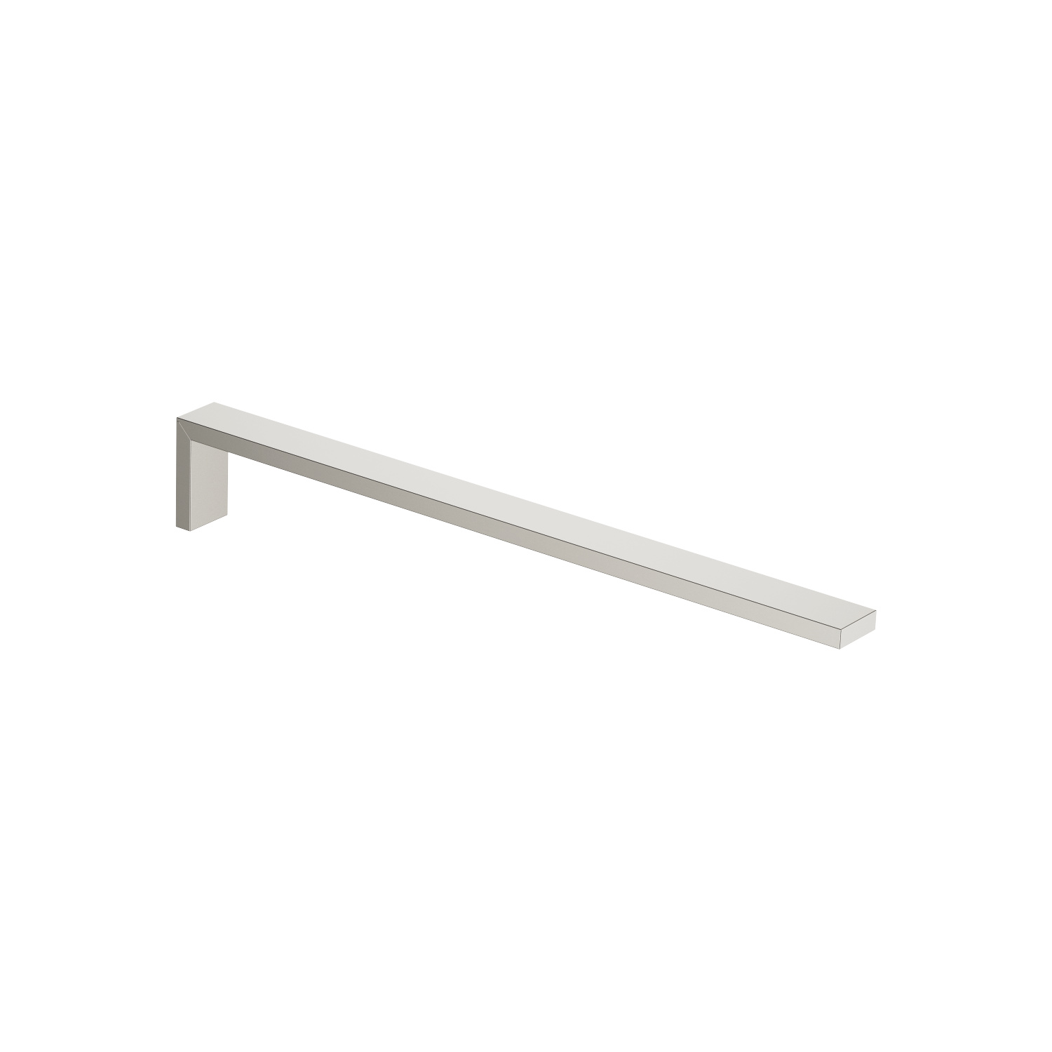 Towel bar 1-piece non-swivel - platinum matt