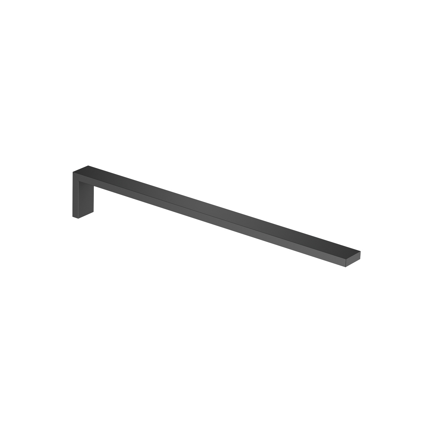 Towel bar 1-piece non-swivel - matt black
