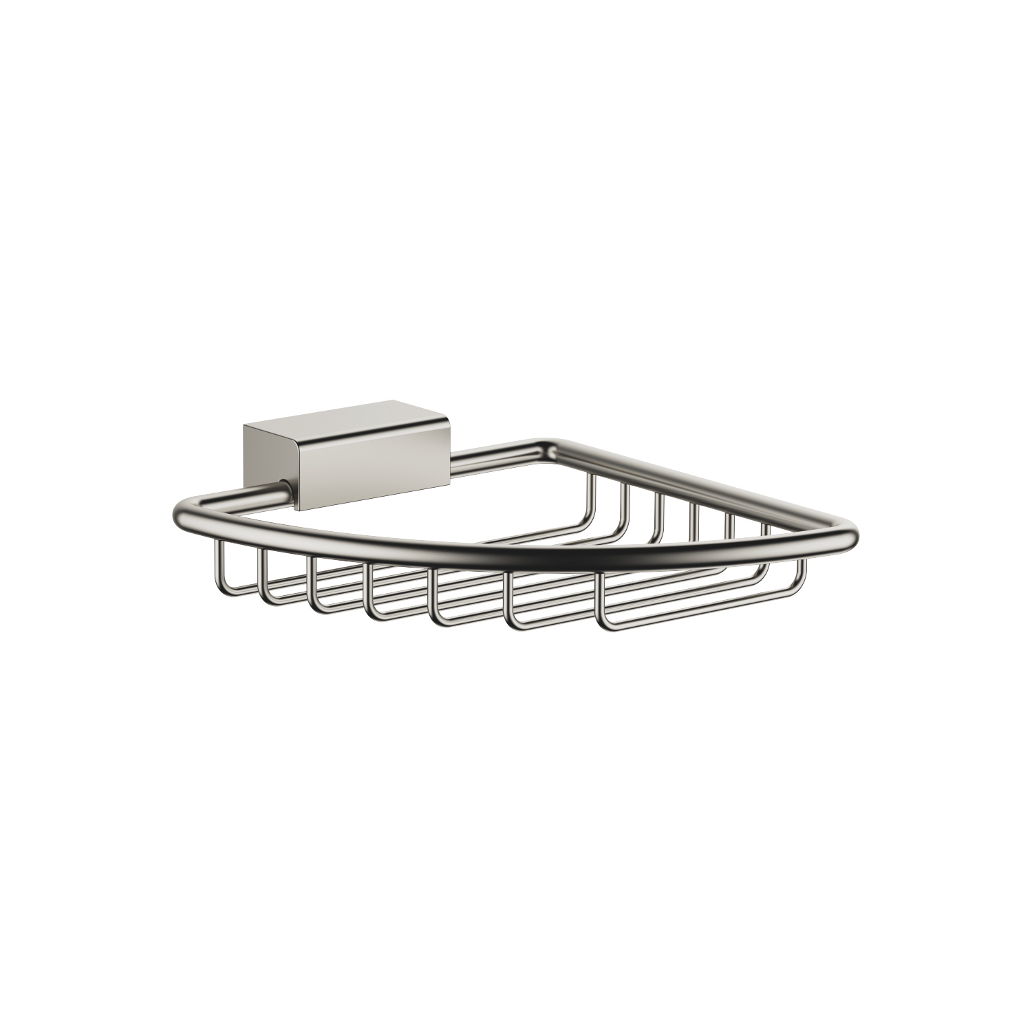 Corner soap basket - platinum matt