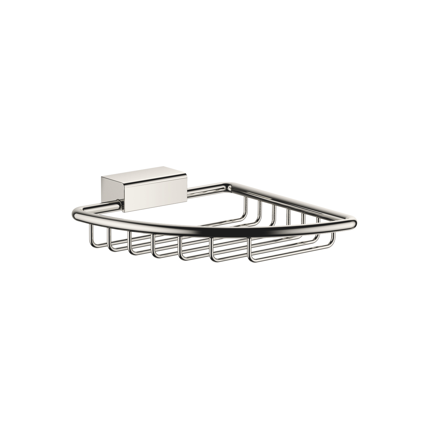 Soap basket for corner installation - platinum