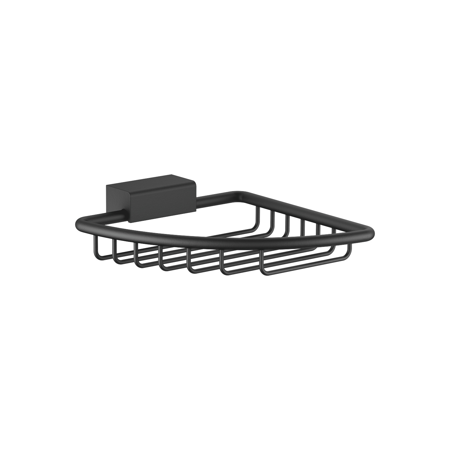 Corner soap basket - matt black