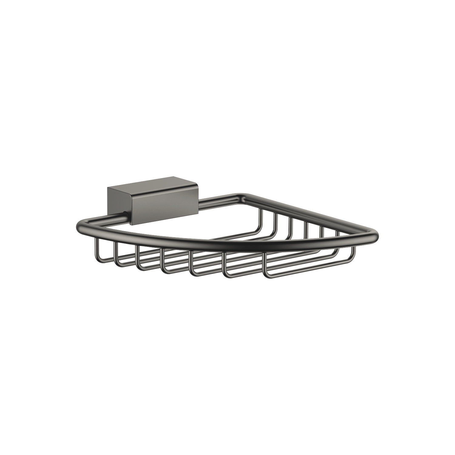 Corner soap basket - Dark Platinum matt