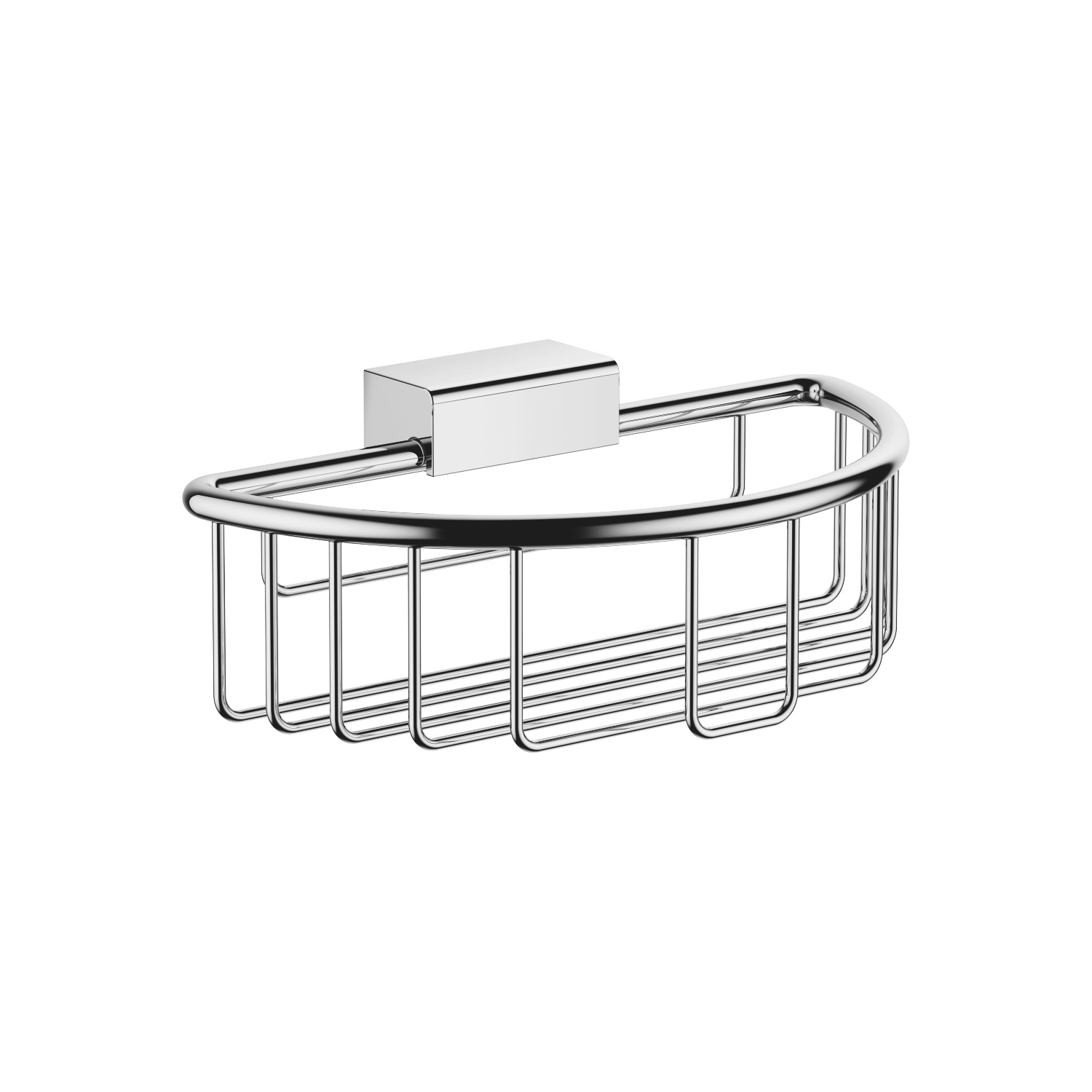 Shower basket for wall mounting - polished chrome