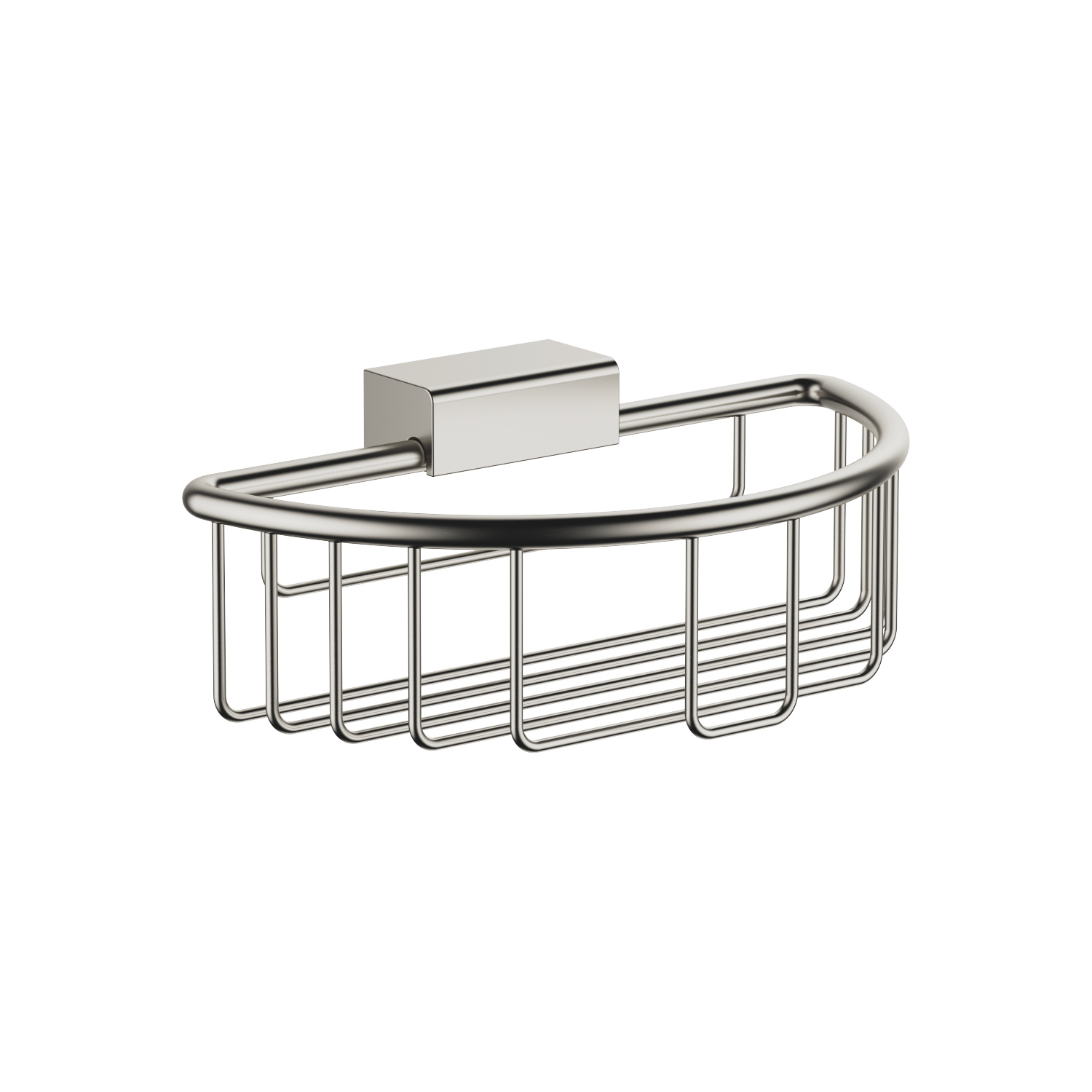 Shower basket for wall mounting - platinum matt