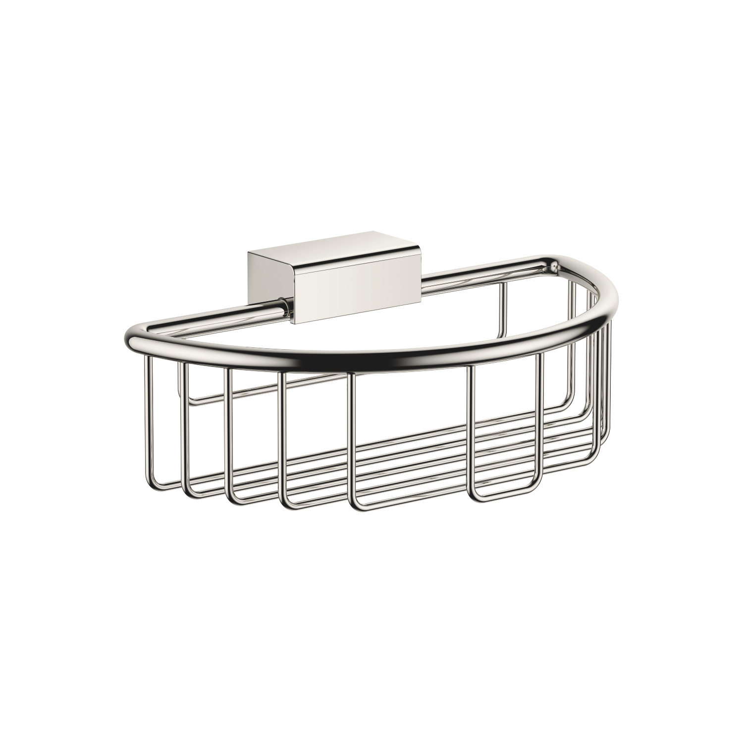 Shower basket for wall mounting - platinum