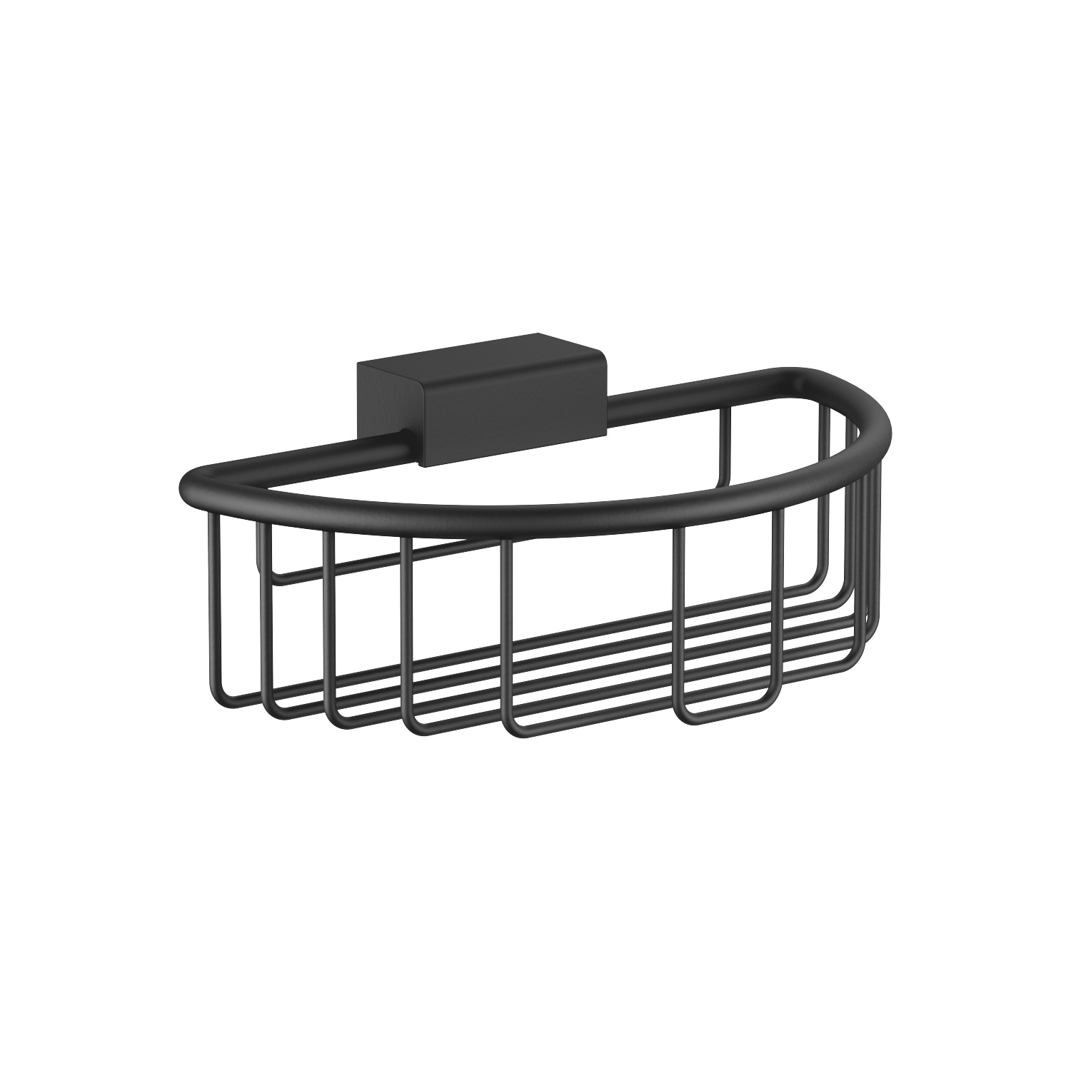 Shower basket for wall-mounted installation - black matte