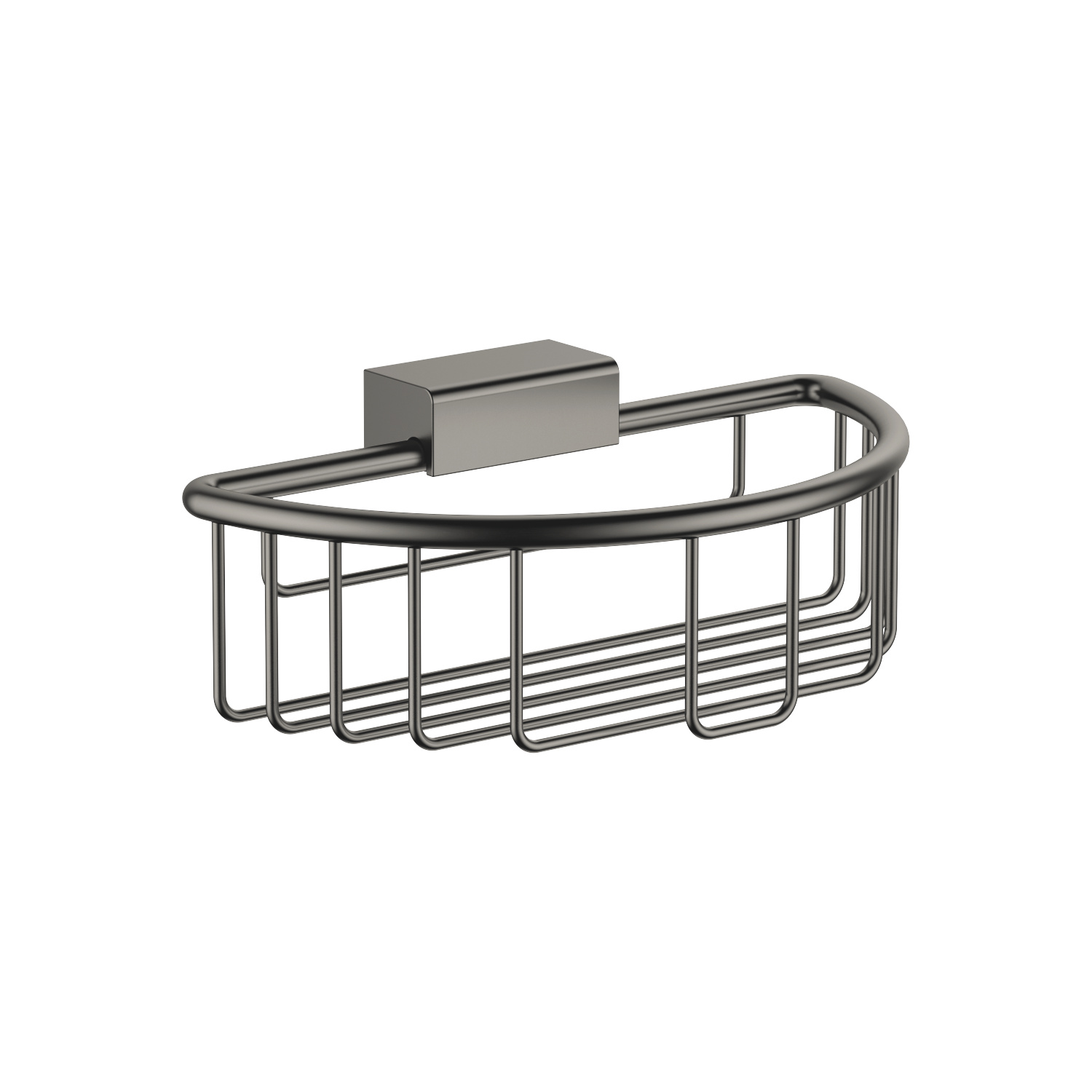 Shower basket for wall mounting - Dark Platinum matt
