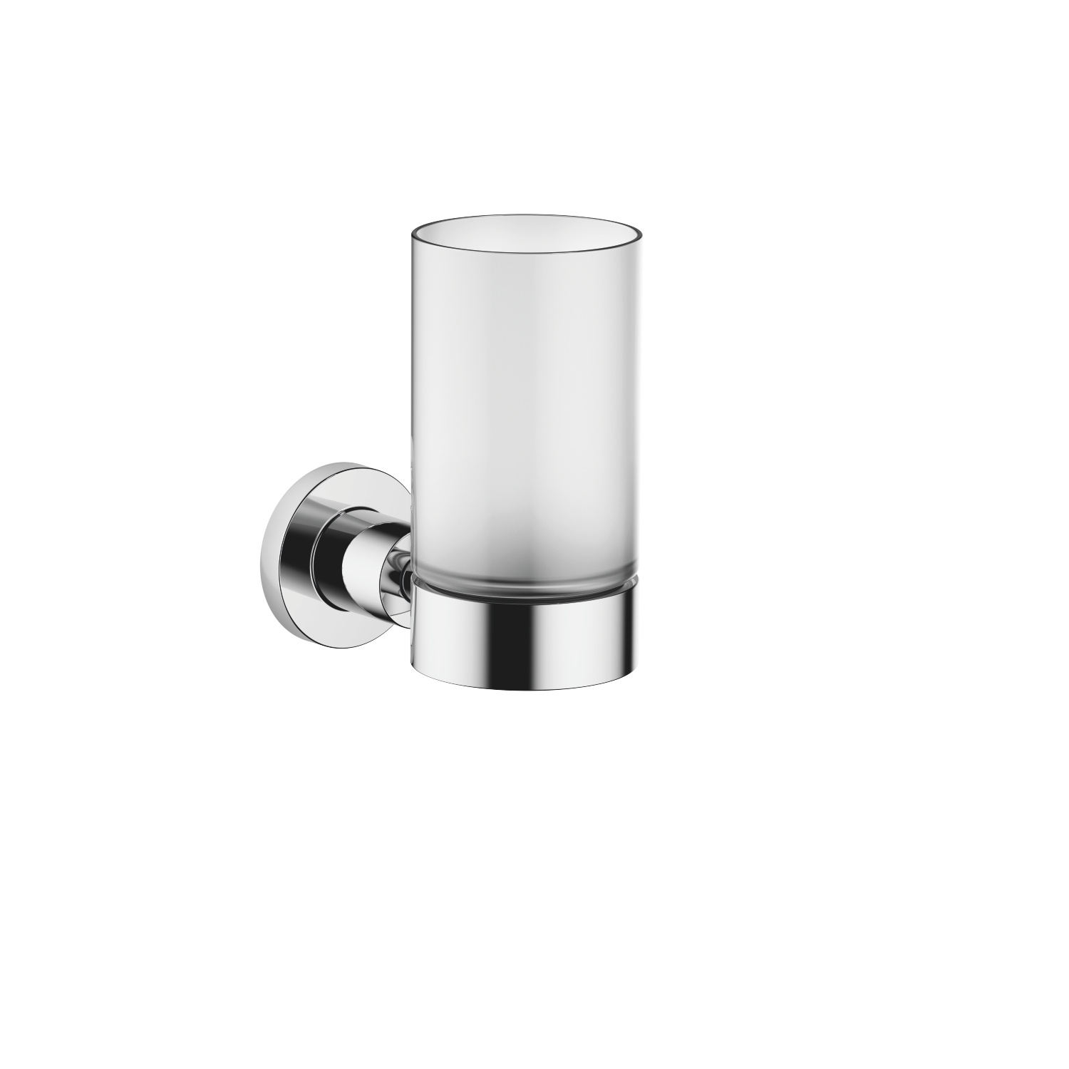 Tumbler holder wall model - polished chrome