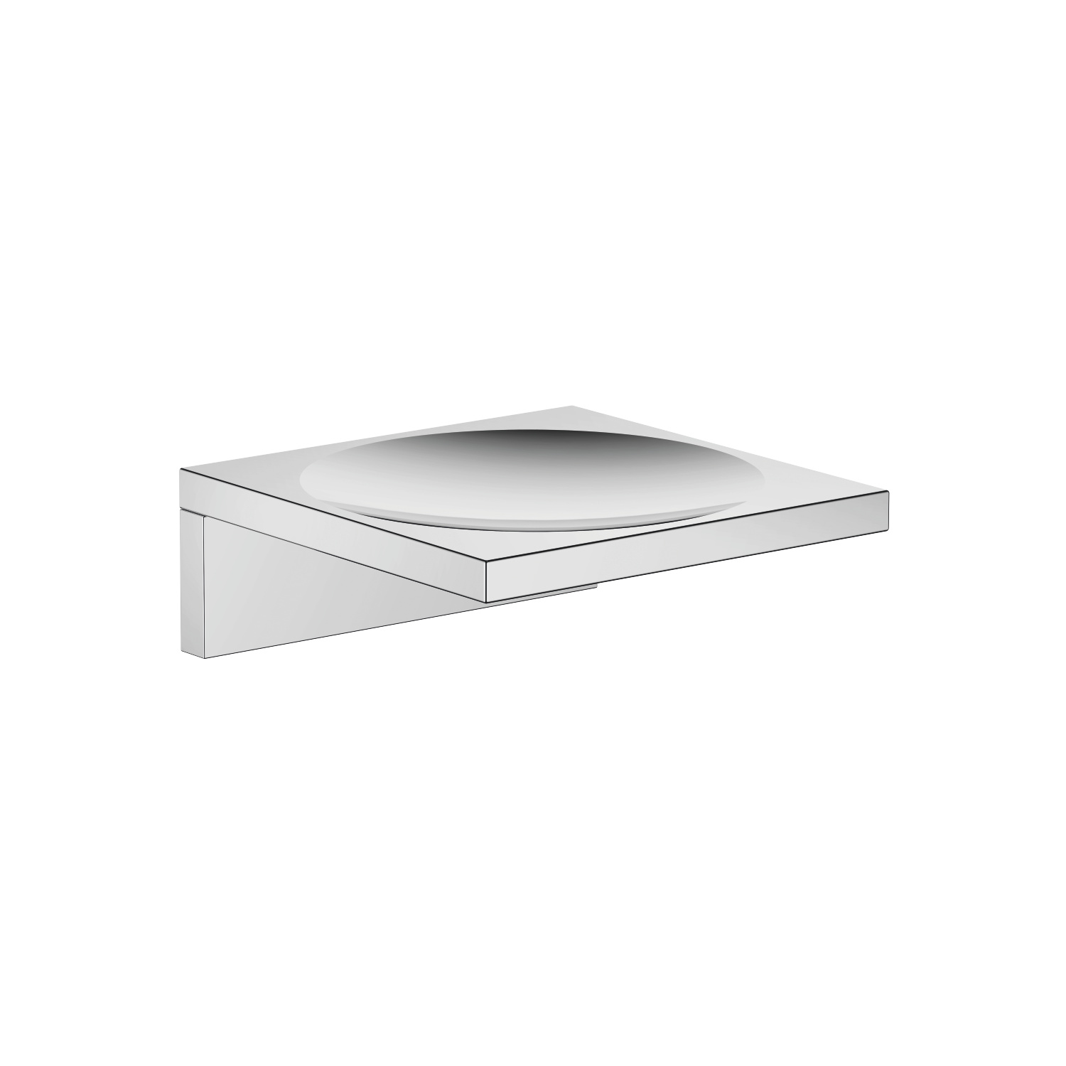 Soap dish wall model - polished chrome