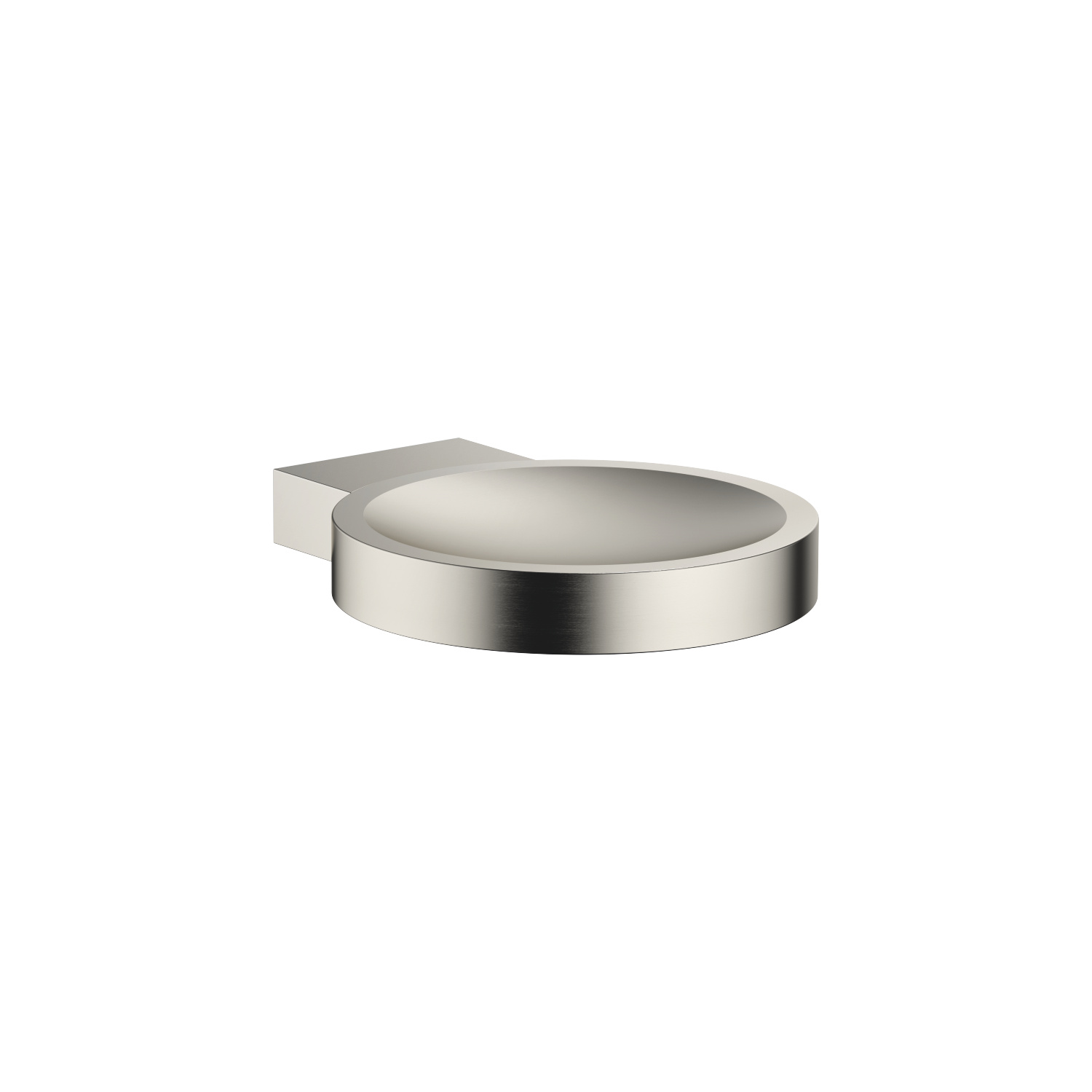 Soap dish wall-mounted - platinum matte
