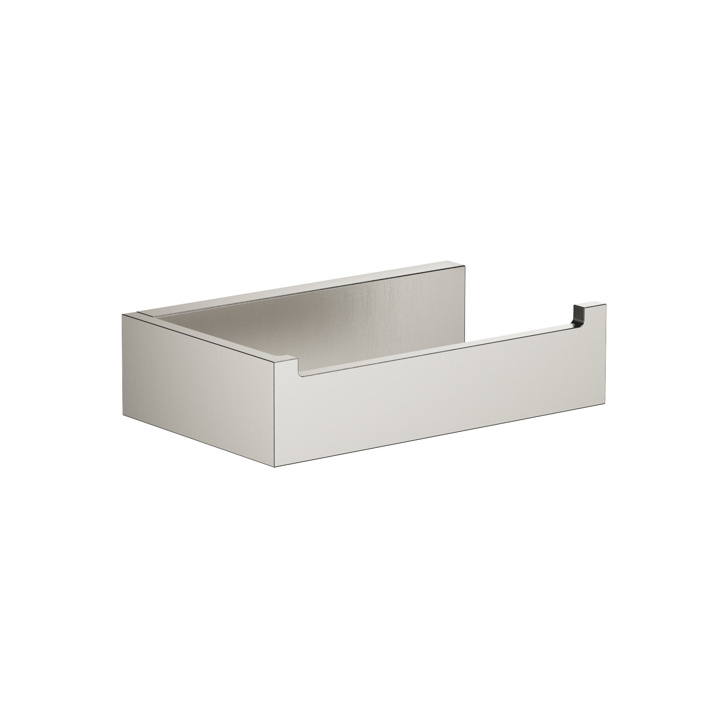 Tissue holder without cover - platinum matt