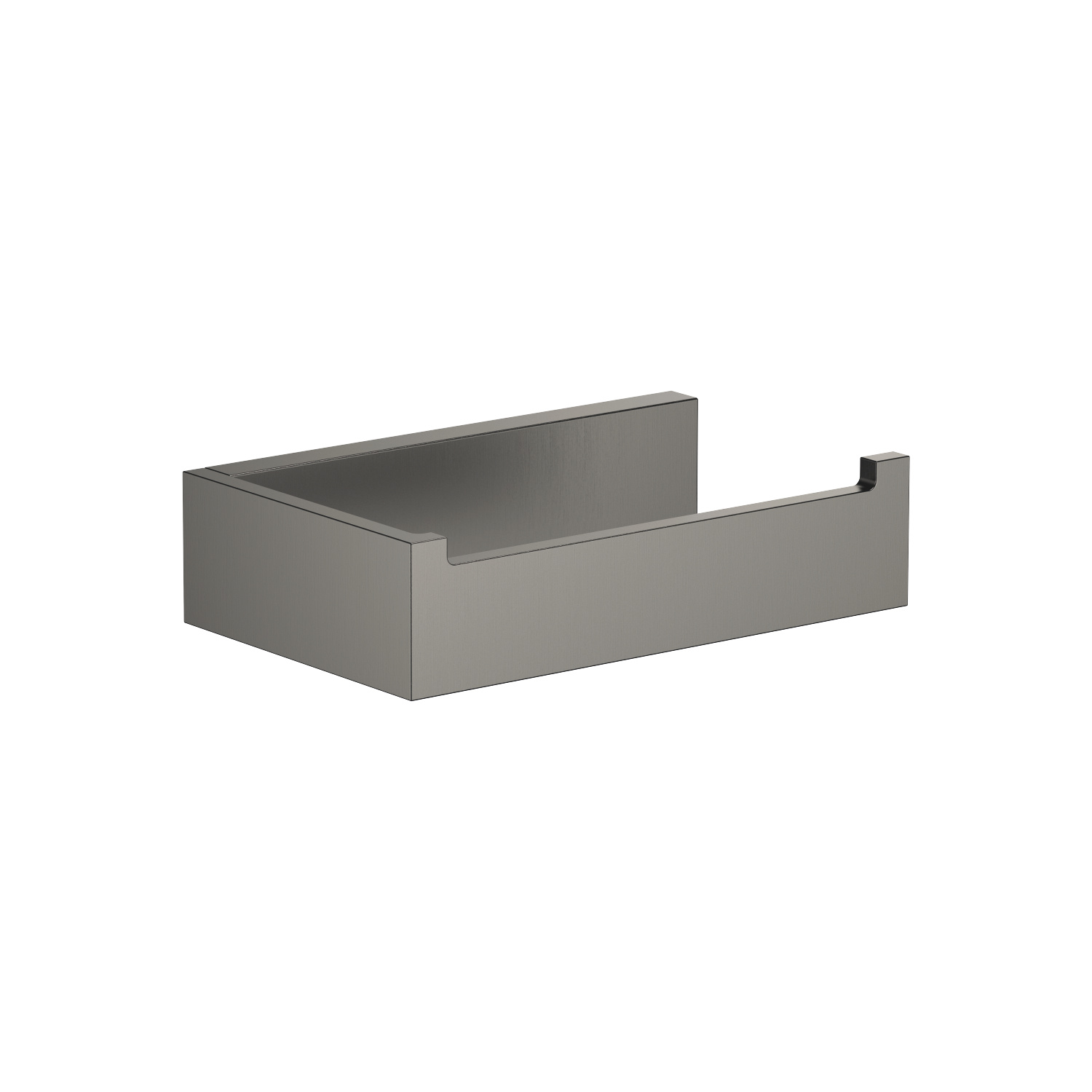 Tissue holder without cover - Dark Platinum matt