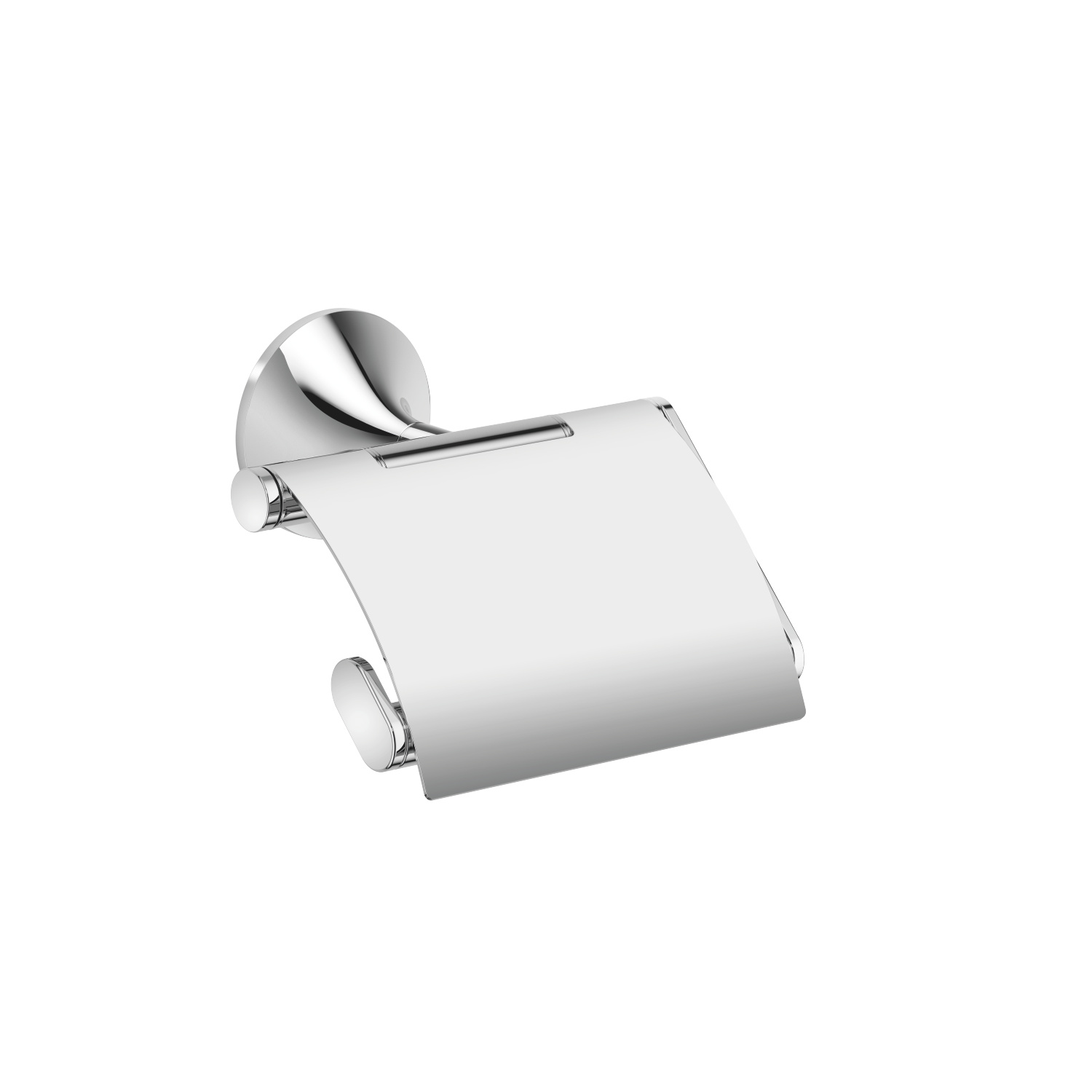 Tissue holder with cover - polished chrome