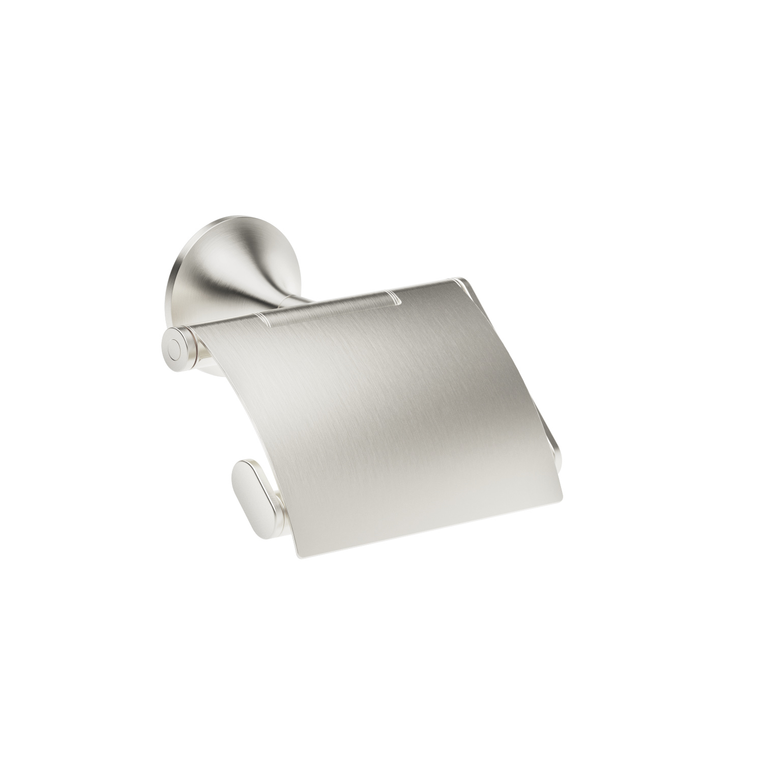 Tissue holder with cover - platinum matte