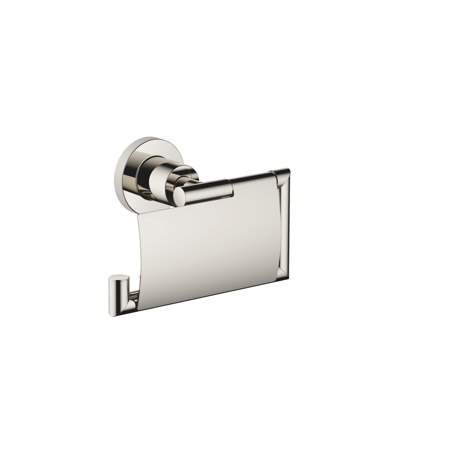 Tissue holder with cover - platinum