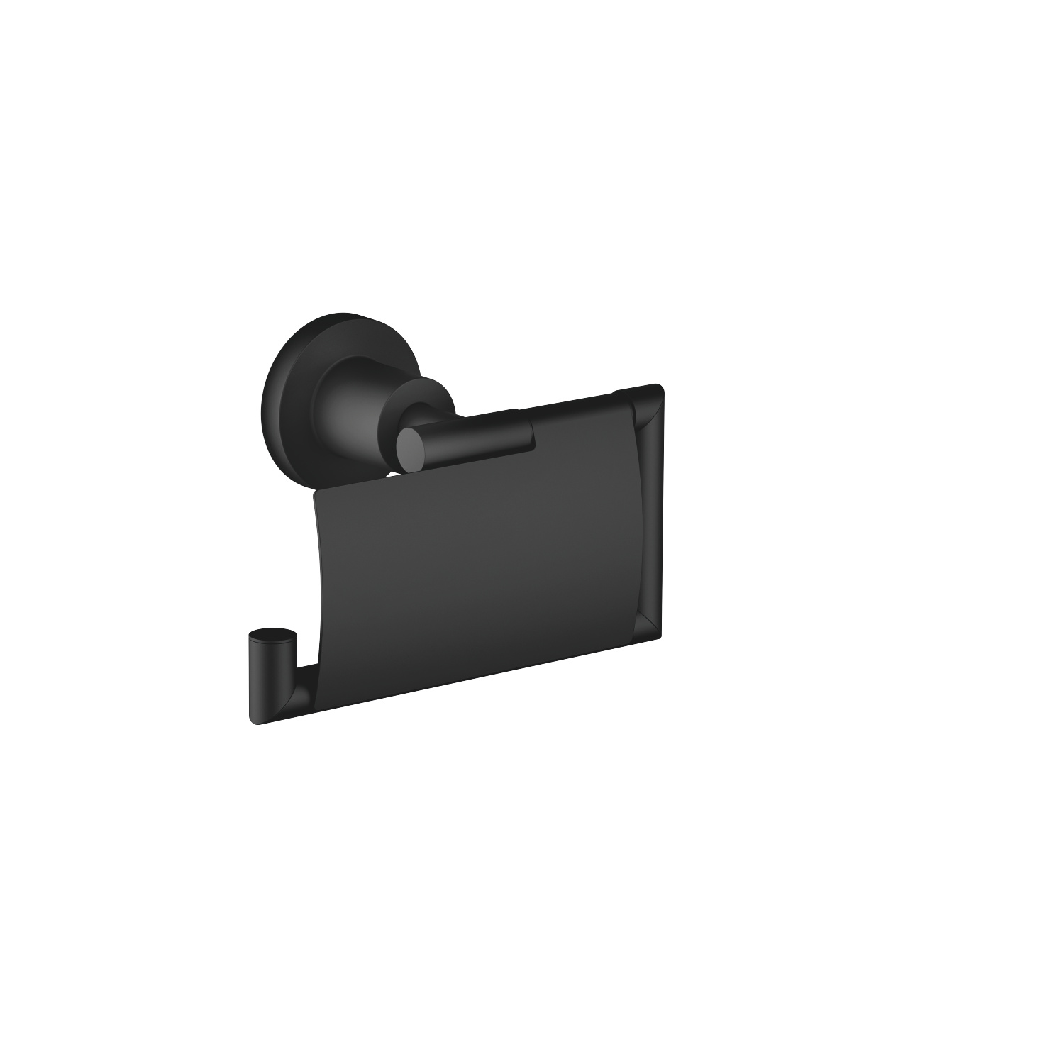 Tissue holder with cover - matt black