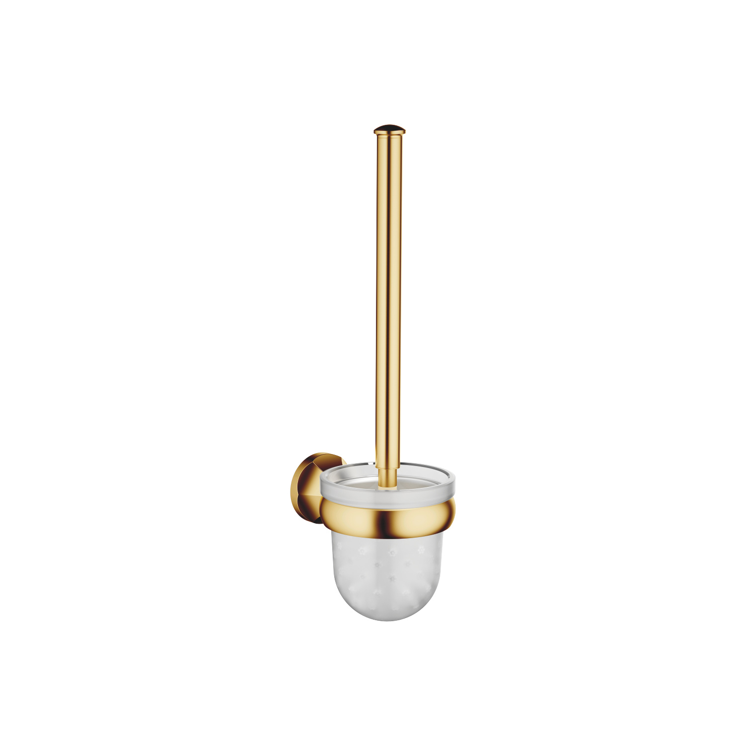 Toilet brush set wall model - brushed Durabrass