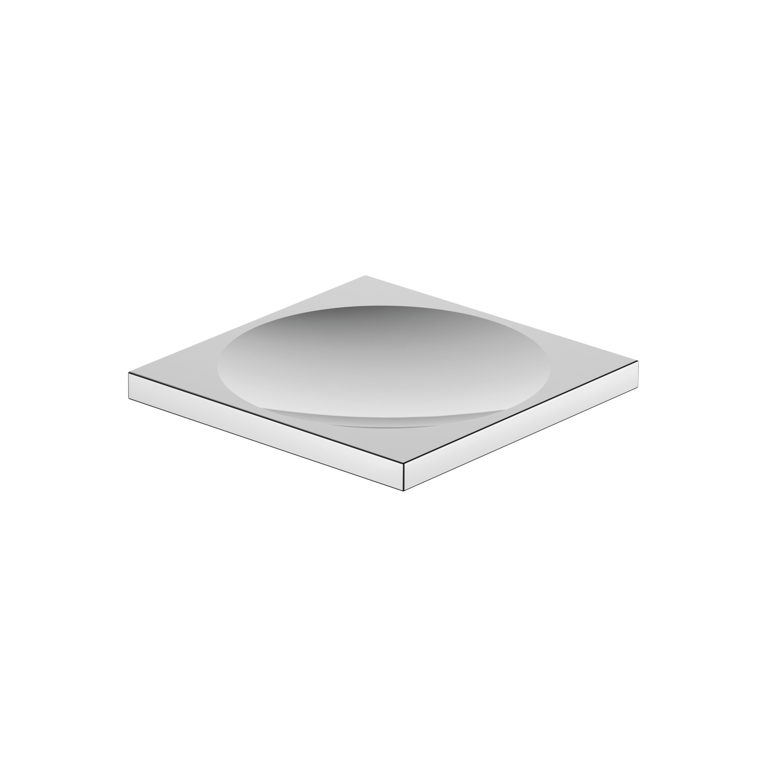 Soap dish free-standing model - polished chrome