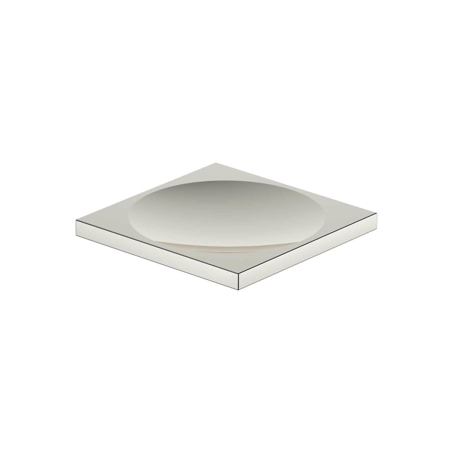 Soap dish freestanding - platinum