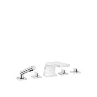 Five-hole bath mixer for deck mounting with diverter - polished chrome - 13612705-00_1_27702980-00_1_20000705-00_1_20000706-00_1_29126705-00_1