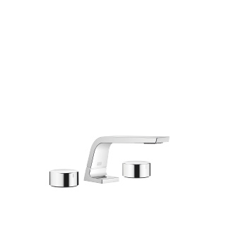 Three-hole basin mixer without pop-up waste - polished chrome - 13714705-00_1_20000740-00_1_20000741-00_1