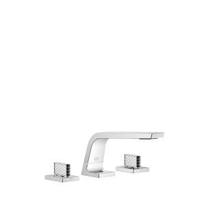 Three-hole basin mixer without pop-up waste - polished chrome - 13714705-00_1_20006705-00_1_20006706-00_1