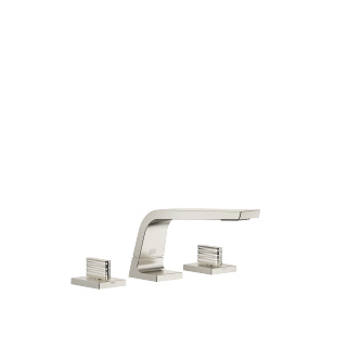 Three-hole basin mixer without pop-up waste - platinum matt - 13714705-06_1_20005705-06_1_20005706-06_1