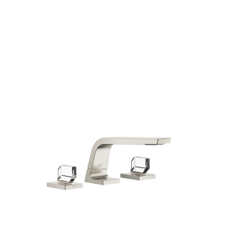 Three-hole basin mixer without pop-up waste - platinum matt - 13714705-06_1_20008705-06_1_20008706-06_1