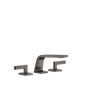 Three-hole basin mixer without pop-up waste - Dark Platinum matt - 13714705-99_1_20004715-99_1_20004716-99_1